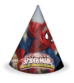Spiderman Web-Warriors feesthoedjes 6 st.