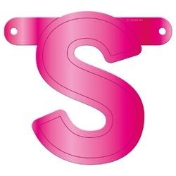 Banner letter S fuchsia