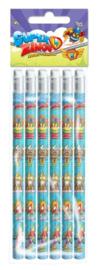 Super Zings uitdeel potloden 6 st.