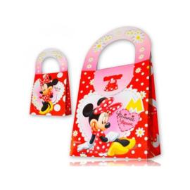 Disney Minnie Mouse traktatie doosje rood 14 x 8 x 16 cm. p/stuk