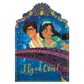 Disney Aladdin uitnodigingen 8 st.