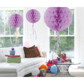 Lila honeycomb bal decoratie ø 30 cm. p/stuk
