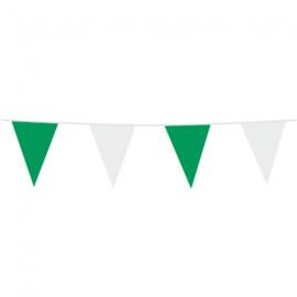 Vlaggenlijn groen - wit 10 mtr.