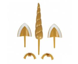 Unicorn taart decoratie set 5-delig