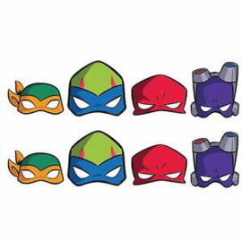 Ninja Turtles maskers 8 st.