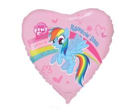 My Little Pony hart folieballon Rainbow Dash 45 cm.