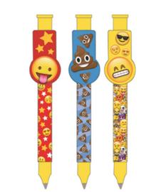 Emoji - Smiley uitdeel pennen 3 st.