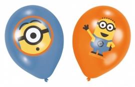 Despicable Me full color ballonnen 6 st. ø 27,9 cm.