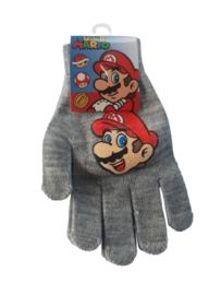 Super Mario Bros handschoenen grijs 16 cm.