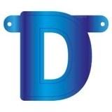 Banner letter D blauw
