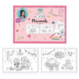 Jill kleur placemats A3 10 st.