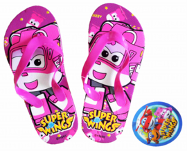 Super Wings Dizzy slippers fuchsia mt. 29-30