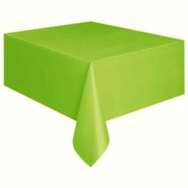 Tafelkleed lime groen 274 x 137 cm.