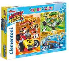 Disney Mickey Mouse and the Roadster Racers puzzel 3 x 48 stukjes