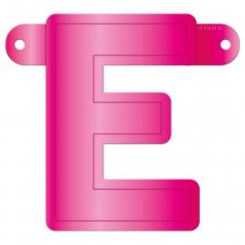 Banner letter E fuchsia