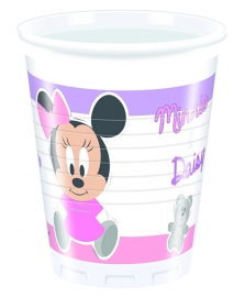 Disney Baby Minnie Mouse en Katrien bekertjes 20 cl. 8 st.