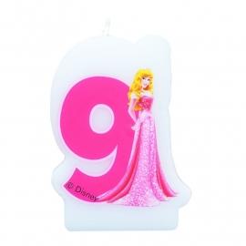 Disney Princess Doornroosje 9e verjaardagskaars