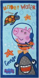 Peppa Pig George strandlaken Under Water 70 x 140 cm.