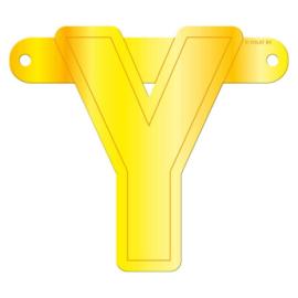 Banner letter Y geel
