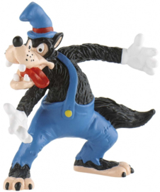 Disney The Three Little Pigs Big Bad Wolf taart topper decoratie 8 cm.