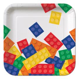 Lego Block Party gebakbordjes 17,4 cm. 8 st.