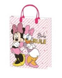 Minnie Mouse en Katrien cadeau tasje M 32 x 27 x 10 cm.