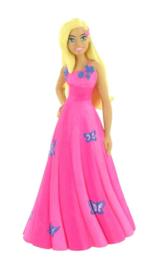 Barbie taart topper decoratie 10 cm.