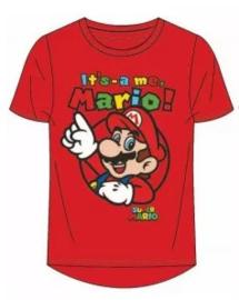 Super Mario Bros t-shirt rood mt. 104