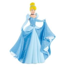 Disney Princess Assepoester taart topper decoratie 10,5 cm.