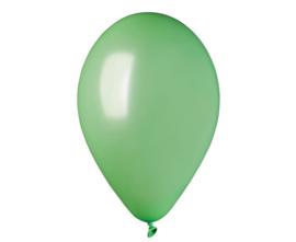 Ballon metallic mint groen ø 30 cm. 10 st.