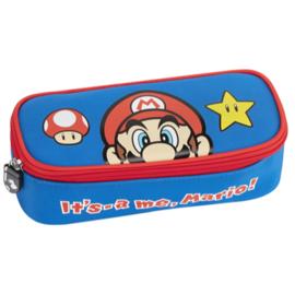 Super Mario Bros etui It's- a me, Mario (gevuld) 22 x 9,5 x 7 cm.