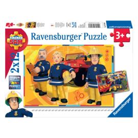 Brandweerman Sam puzzel - Sam aan het werk 2 x 12 stukjes