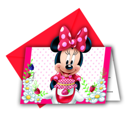 Disney Minnie Mouse uitnodigingen Jam Packed with Love 6 st.