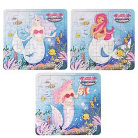 Zeemeermin mini puzzel Magical Mermaids p/stuk