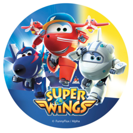 Super Wings taart en cupcake decoratie