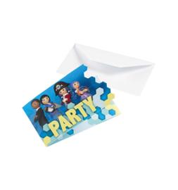 Playmobil uitnodigingen 8 st.