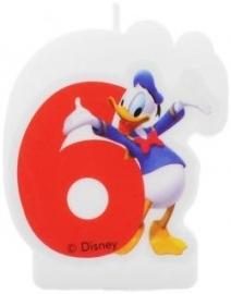 Disney Donald Duck 6e verjaardag taart kaars
