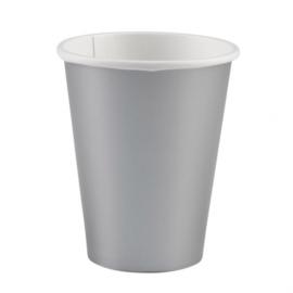 Zilveren wegwerp bekertjes 8 st.