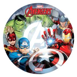 Avengers ouwel taart decoratie ø 20 cm.