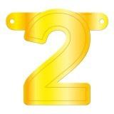 Banner cijfer 2 geel