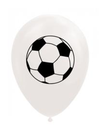 Voetbal ballonnen wit ø 30 cm. 8 st.