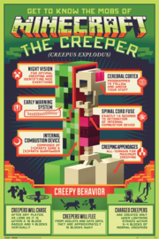 Minecraft poster Creepy Behavior 61 x 91,5 cm.