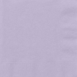 Lavendel servetten 33 x 33 cm. 20 st.