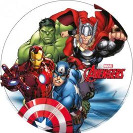 Avengers Assemble ouwel taart decoratie ø 20 cm. A