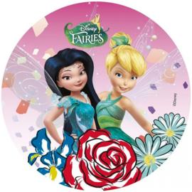 Disney Tinkerbell en Silvermist ouwel taart decoratie ø 21 cm.