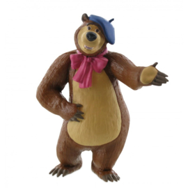 Masha and the Bear taart topper decoratie - schilder 8 cm.