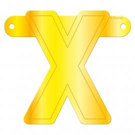 Banner letter X geel