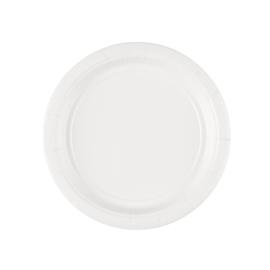 Witte wegwerp gebakbordjes ø 17,8 cm. 8 st.