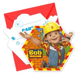 Bob de Bouwer uitnodigingen 6 st.