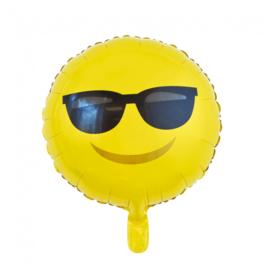 Emoji - Smiley folieballon sunglasses ø 46 cm.